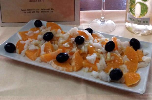 Ensalada a la naranja con bacalao - Turismo Palma del Río - Córdoba